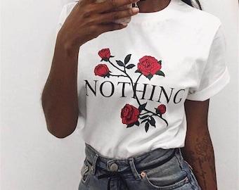 NOTHING- t-shirt/ Women T-shirt, Trendy, fashion