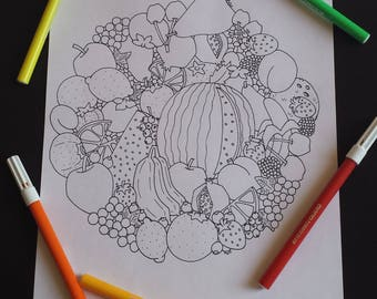 Art therapy fruits