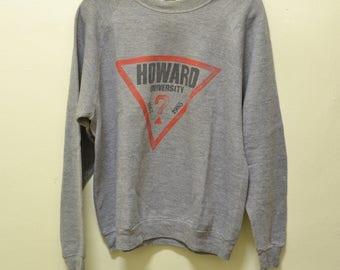 RARE vintage howard university x guess logo tri-blend 80s sweatshirt