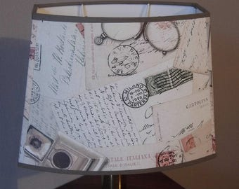 Lampshade pagoda paper old letters decor