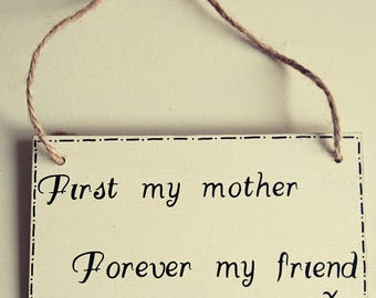 Handmade mothers day plaques