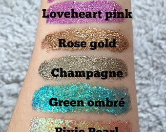 Mermaid face and eye glitter gel paste make up (in a variety of colours)