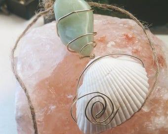 Aquamarine Sea Stone Pendant