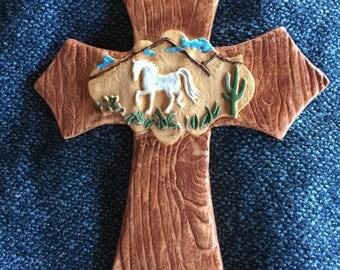 Ceramic Horse Cross