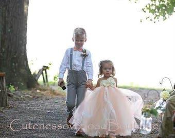 Peach Tutu Dress-Ivory Birthday Tutu Dress-ivory tutu dress-ivory child dress-flower girl dress tulle-baby dress-vintage