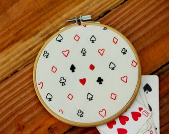Playing Card Suit Handmade Embroidery