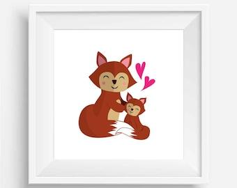 Baby Fox and Mumma