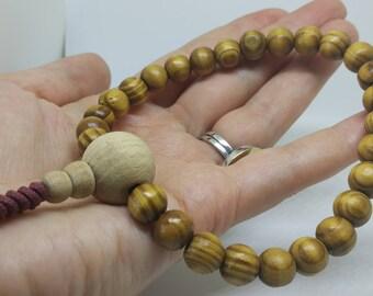 APPLE TREE: 27 bead wood mala