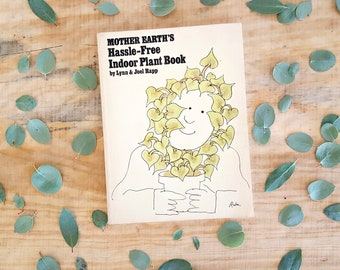 vintage plant book | 1970s house plant book | Mother Earth's Hassle-Free Indoor Plant Book 1973 | illustrated paperback |plant lover gift