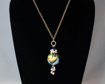 Traditional Sicilian Fish Pendant Necklace