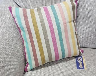 "Pastel Striped Cushion 16x16"""