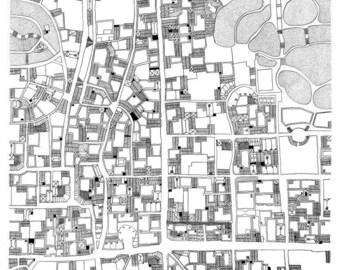 Carte de Belleville -Sérigraphie