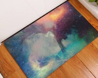 Galaxy Cloud Door Mat