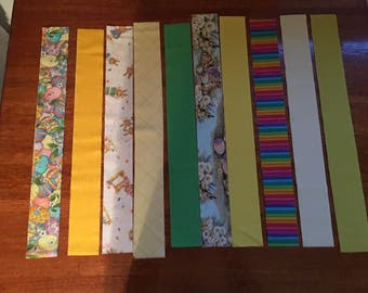 Pre Cut Spring Easter Fabric Jelly Roll