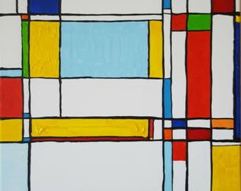 In the style of Mondrian on white