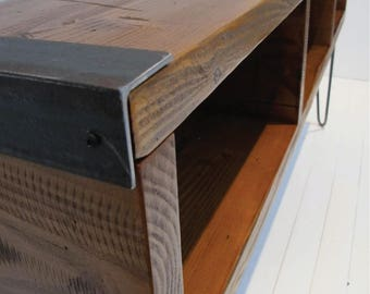 """TV Stand with Reclaimed Wood,Entertainment center,Industrial Wood Media Console, 60"""" Media Console with Hairpin Legs"""