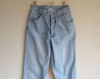 SALE!Vintage high waisted jeans, Mom Jeans, 90s jeans, Jeans 28 W, Ankle jeans, jeans women 28, vintage jeans