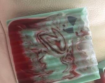 Crazy mixed up watermelon soap