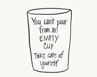 Empty Cup Print