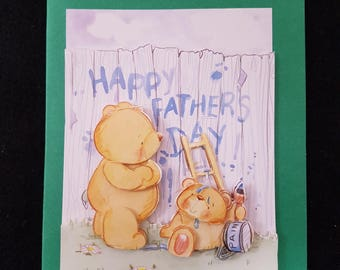 Handmade Forever Friends Farthers Day Card