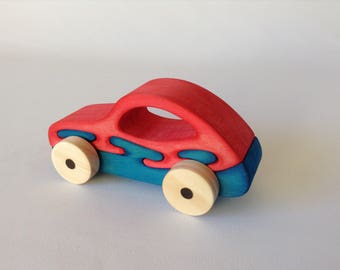Handmade wooden car, Wooden toy.
