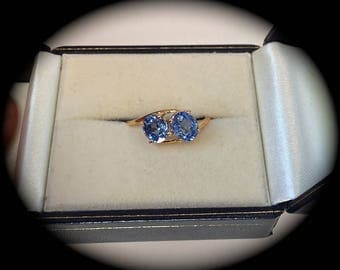 1.64ct Ceylon Sapphire Ring 9ct Yellow Gold 'Certified' - Beautiful Colour