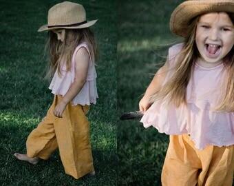 Children silk pants