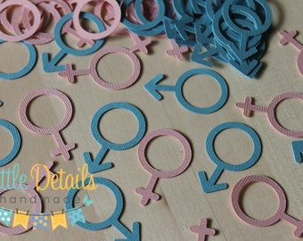 Gender Symbol Table Confetti, Gender Reveal Confetti, Baby Shower Confetti