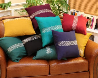 Khamak embroidered pillowcases