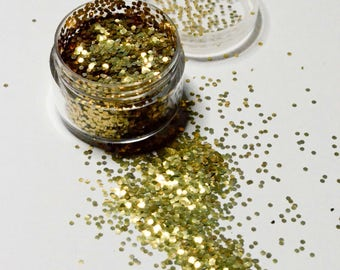 Biodegradable Cosmetic Glitter Chunky Gold