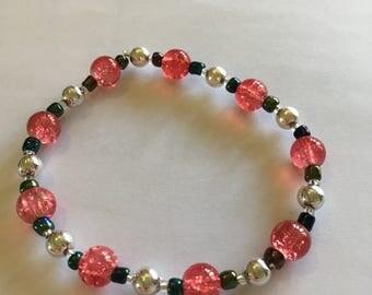 Pretty Pink Beaded Bracelet