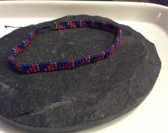 Beaded Bracelet- Cleveland Indians Bracelet- Rally Together Bracelet- Bead Loom Bracelet