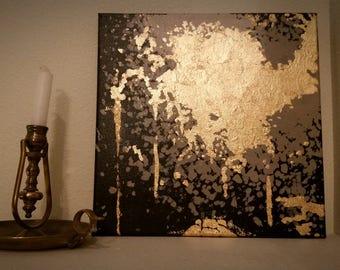 """Original Abstract Painting """"Biergarten"""""""