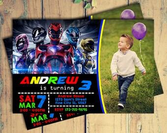 Power Ranger Invitation,Power Ranger Birthday Invitation,Power Ranger Birthday Party,Power Ranger Birthday,Power Ranger Party