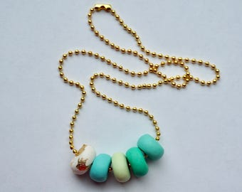 Handmade Teal Necklace