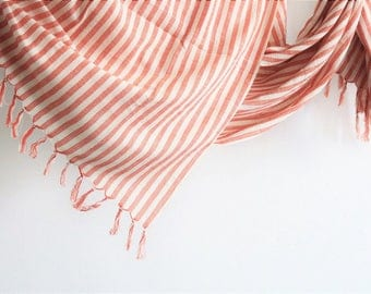 CORAL Handwoven Cotton Towel