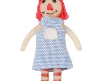 Fairy Garden Miniature Dollhouse Rag Doll 1:12 Scale