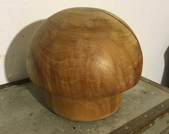 Mushroom wood sculpture wood mushroom