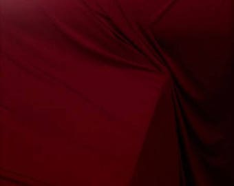 Jersey Burgundy Wine Color Fabric, Jersey Wine Color Material Sold By the Yard