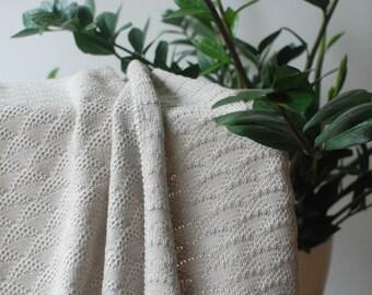 Hand knitted baby blanket, 100% merino wool baby blanket, Knitted newborn blanket, Baby shower gift