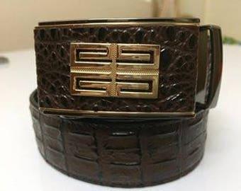 Leather belt men ( hand made)