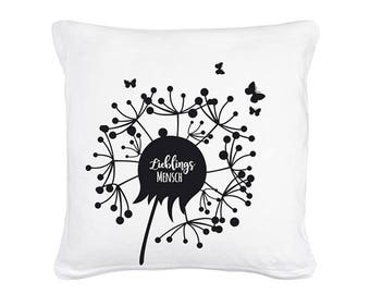 Pillow favorite man flower with butterflies including filling (K01)