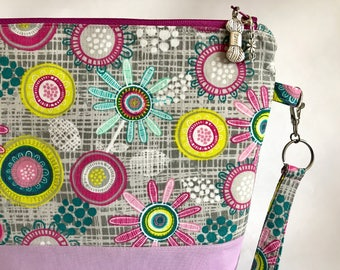 Doodle Flower - medium sized project bag for Knitting/Crochet