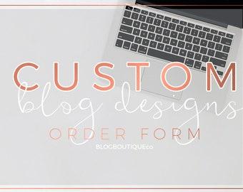 Custom Blog Designs - Custom Blog Header, Custom Blog Signature, Custom Blog Buttom, Watercolor Customs