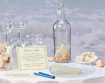 Message in a Bottle with Sand &  Shells  - Personalization Available by Lillian Rose
