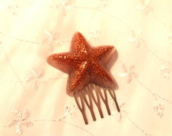 Mermaid Starfish hair comb