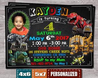 Dinotrux Invitation, Dinotrux Invite, Dinotrux Birthday, Dinotrux Party, Dinotrux Birthday Invitation, Dinotrux Birthday Invite, Dinotrux