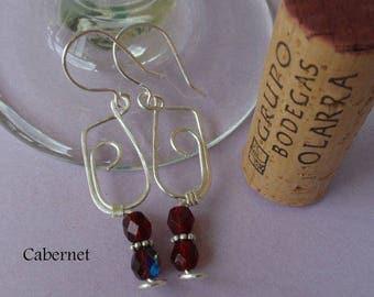 Earrings, Wine Glass
