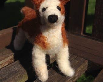 Needle-felted dog
