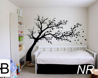 Vinyl Wall Decal, Wall Sticker, City, Ideas, Fun, Tree,Nursery Wall Decal, Black Nursery Tree, Wall Decals, Modern Vinyl